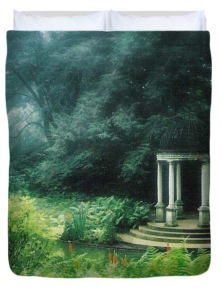 Gazebo Longwood Gardens Duvet Cover