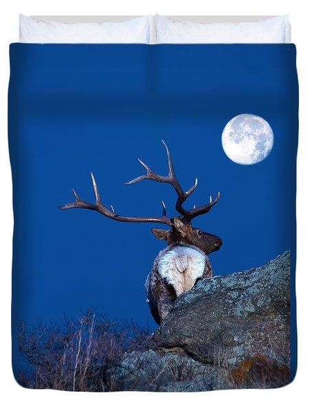 Gazing At The Moon Duvet Cover