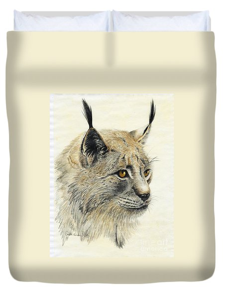 Gazing Lynx Duvet Cover