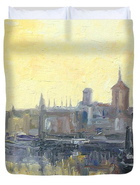 Gdansk Harbour - Poland Duvet Cover