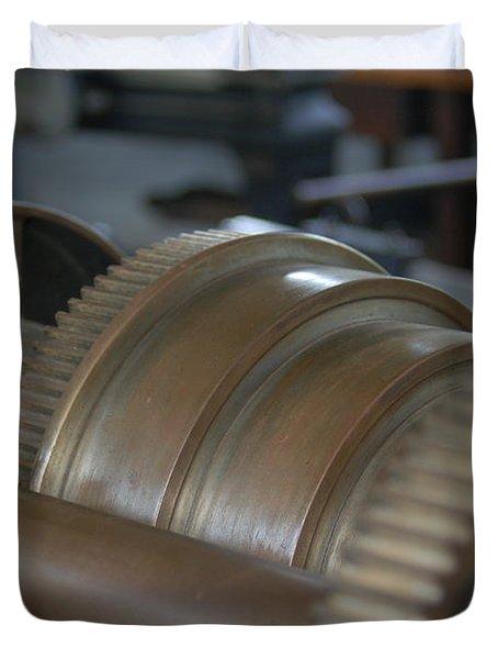 Gears Of Progress Duvet Cover