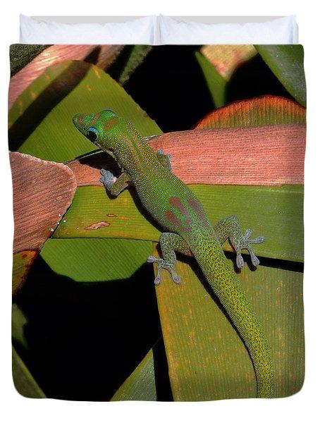 Gecko Duvet Cover by Pamela Walton