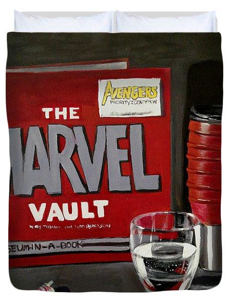 Marvel Comic's Still Life Acrylic Painting Art Duvet Cover