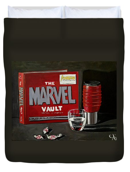 Marvel Comic's Still Life Acrylic Painting Art Duvet Cover