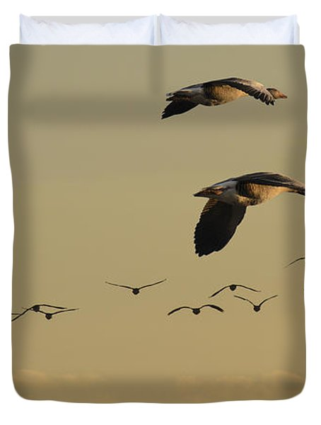 Geese Charter Duvet Cover