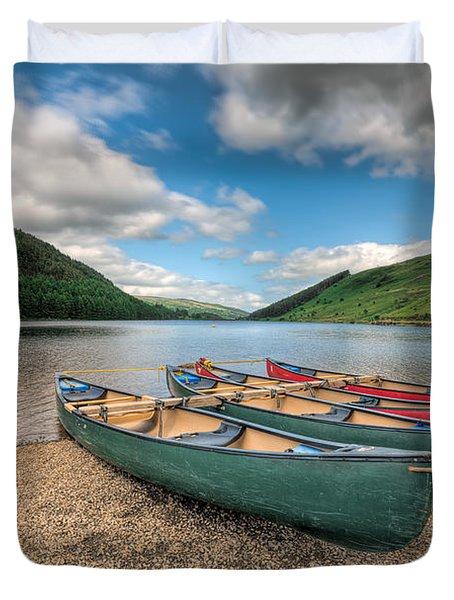 Geirionydd Lake Duvet Cover by Adrian Evans