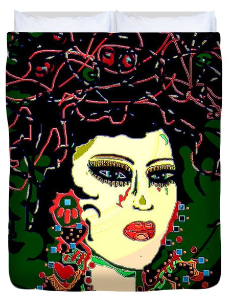 Geisha 6 Duvet Cover by Natalie Holland