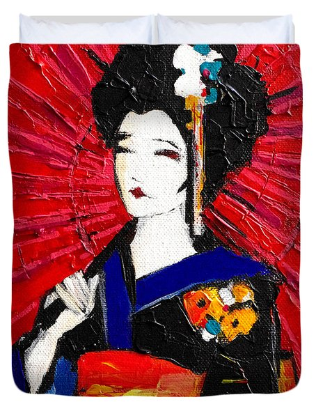 Geisha Duvet Cover by Mona Edulesco