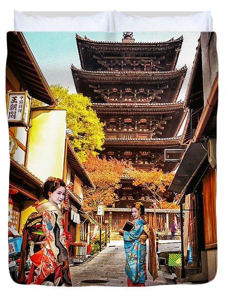 Geisha Temple Duvet Cover