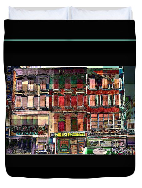 Gem Collection - New York In 1975 - Print Or Card Duvet Cover by Miriam Danar