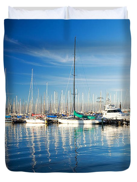 Duvet Cover featuring the photograph Gem Pier Of Williamstown by Yew Kwang