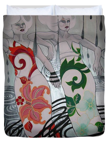 Gemini Twins Duvet Cover by Darlene Graeser