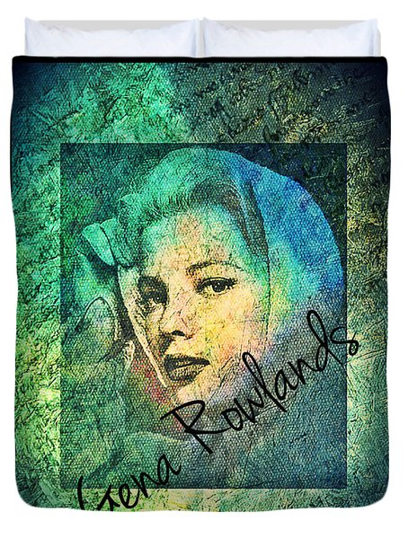 Gena Rowlands Duvet Cover by Absinthe Art By Michelle LeAnn Scott