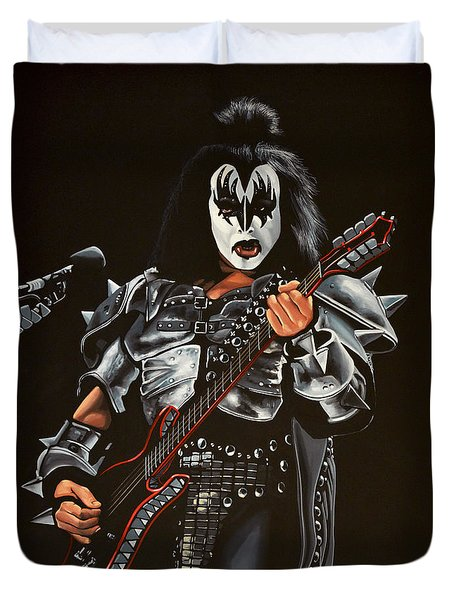 Gene Simmons Of Kiss Duvet Cover by Paul Meijering