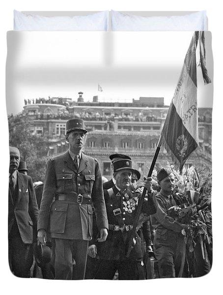 General Charles De Gaulle Duvet Cover