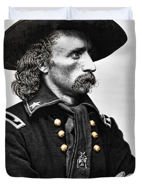 General George Armstrong Custer  Duvet Cover by Daniel Hagerman
