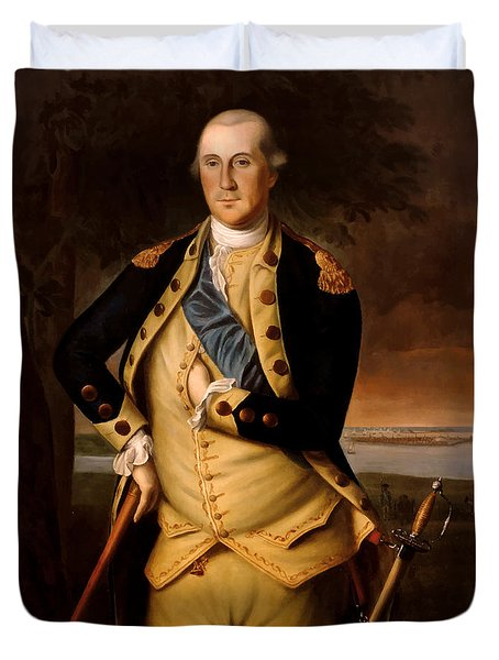 General George Washington  Duvet Cover by War Is Hell Store