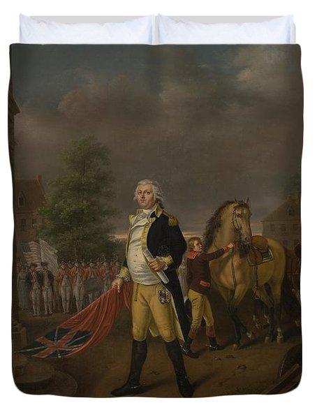 General Humphreys Delivering Duvet Cover by Nicolas Louis Albert Delerive