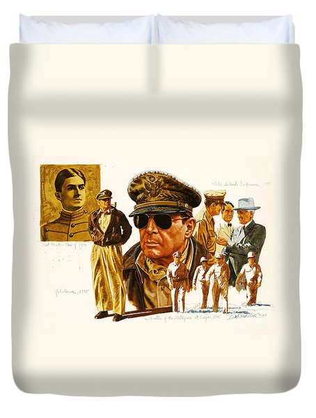 General Macarthur Duvet Cover