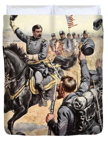 General Mcclellan At The Battle Duvet Cover