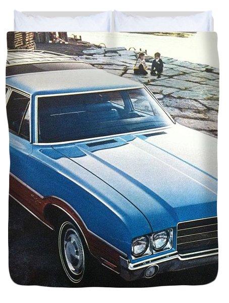 General Motors Posters Duvet Cover