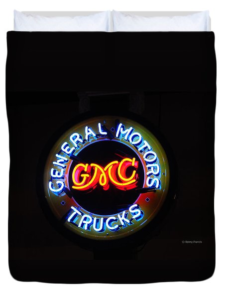 Duvet Cover featuring the photograph General Motors Trucks by Kenny Francis