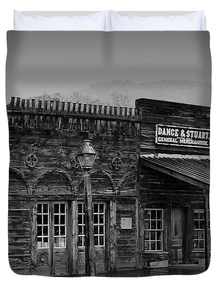 General Store Virginia City Montana Duvet Cover by Thomas Woolworth
