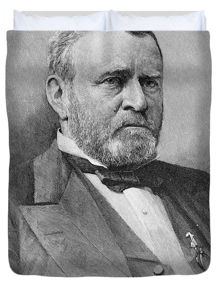 General Ulysses Simpson Grant, Engraved From A Photograph, Illustration From Battles And Leaders Duvet Cover