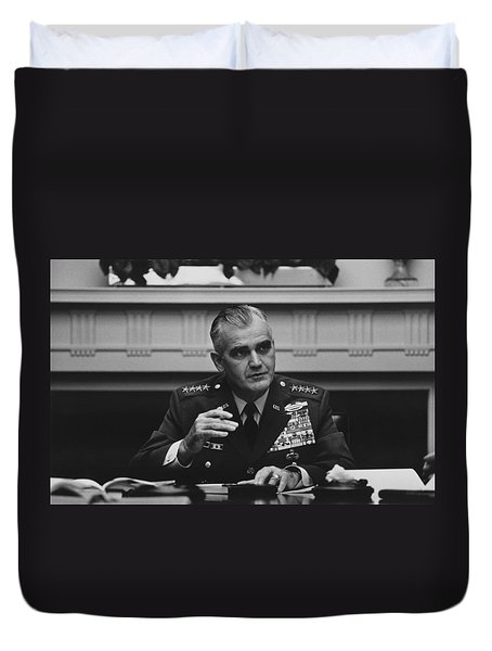 General William Westmoreland -- Vietnam War Duvet Cover by War Is Hell Store