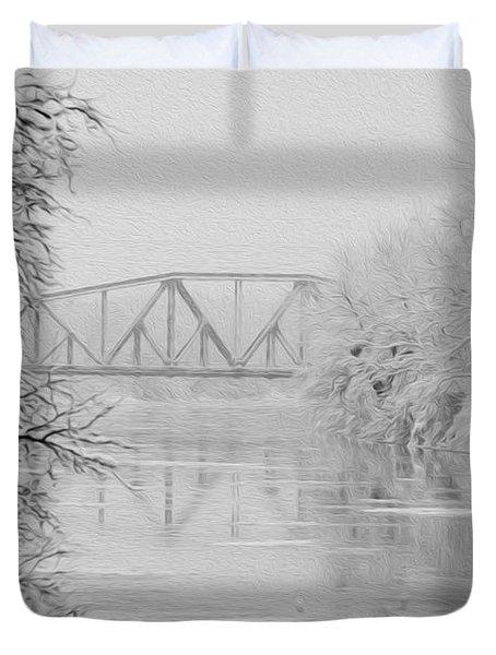 Genesee River Duvet Cover