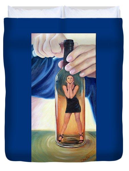 Genie In A Bottle Duvet Cover by Sandi Whetzel