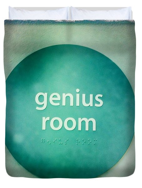 Duvet Cover featuring the photograph Genius Room by Nina Prommer