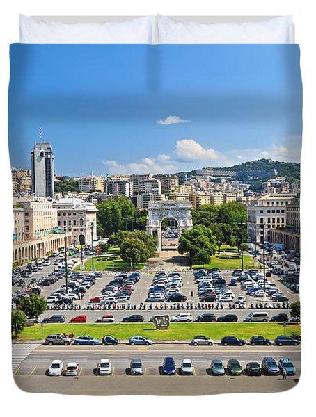 Genova - Piazza Della Vittoria Overview Duvet Cover