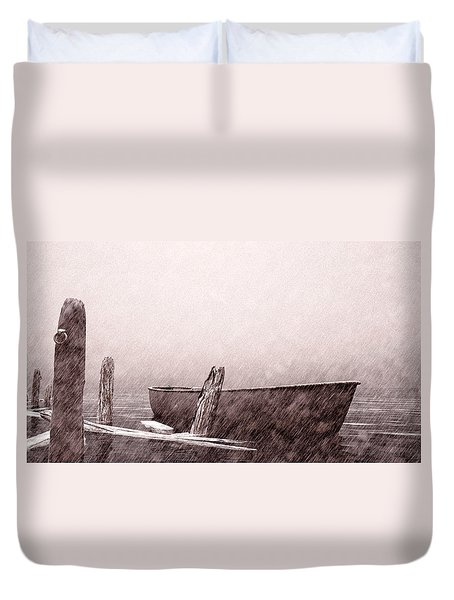 Gentle Current Duvet Cover by Bob Orsillo
