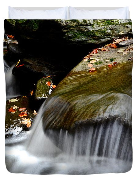 Gentle Falls Duvet Cover by Frozen in Time Fine Art Photography