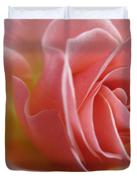 Gentle Pink Rose Duvet Cover