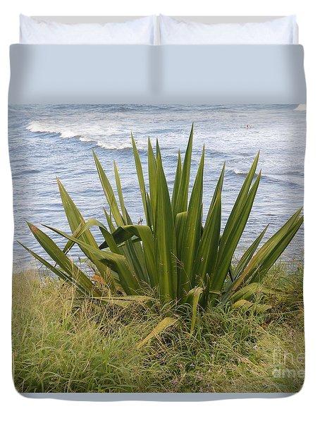 Gentle Surf Of Maui Duvet Cover