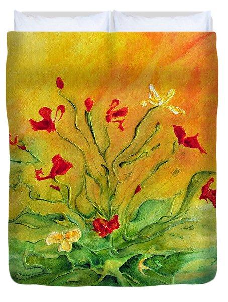 Gentle Duvet Cover by Teresa Wegrzyn