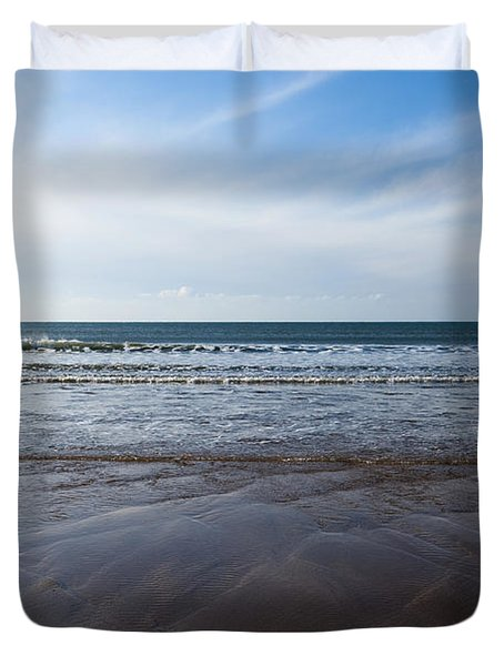 Gentle Waves Duvet Cover by Anne Gilbert