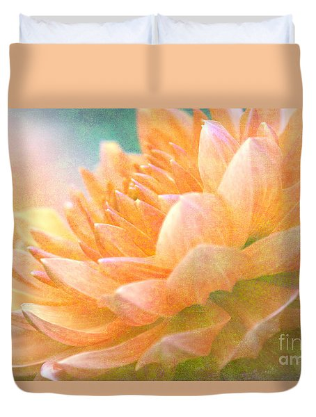Gently Textured Dahlia  Duvet Cover