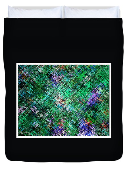 Geometric Abstract Duvet Cover by Mariarosa Rockefeller