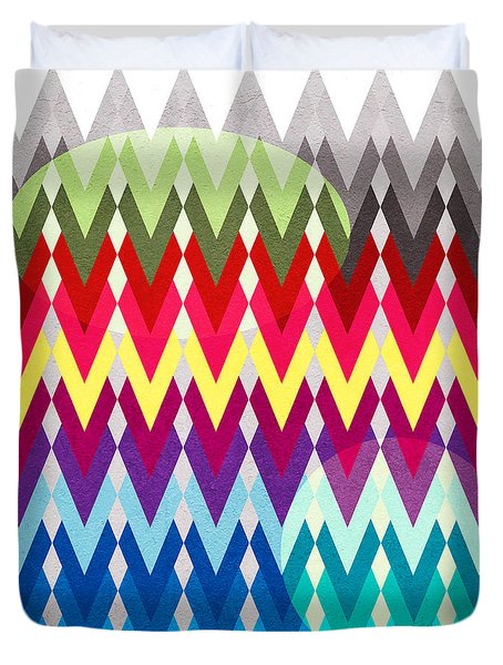 Geometric Colors  Duvet Cover by Mark Ashkenazi