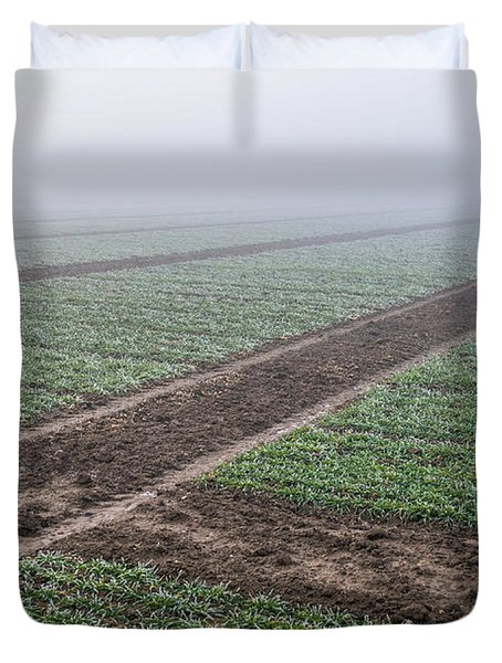 Geometry In Agriculture Duvet Cover by Hannes Cmarits