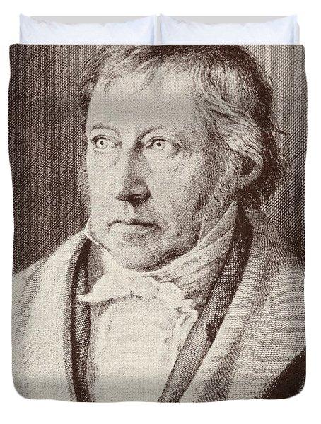 Georg Hegel  Duvet Cover