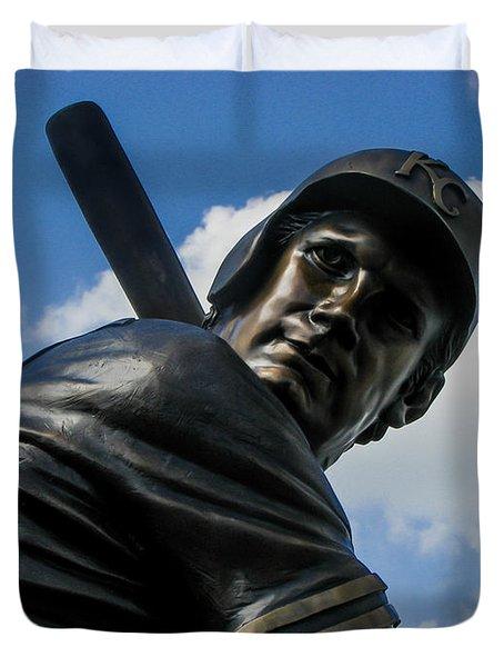 George Brett Statue Duvet Cover