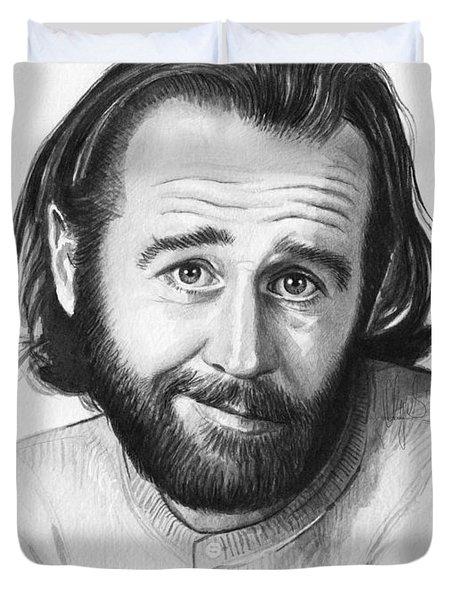 George Carlin Portrait Duvet Cover