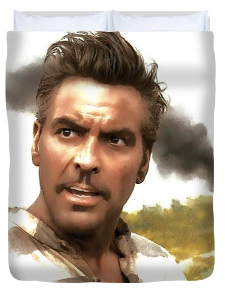 George Clooney In The Film O Brother Where Art Thou Duvet Cover