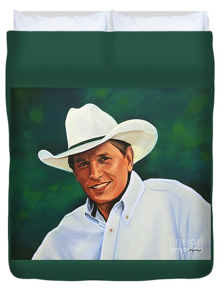 George Strait Duvet Cover