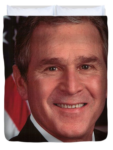 George W Bush Duvet Cover by Official Gov Files