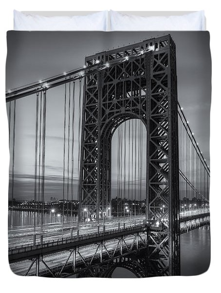 George Washington Bridge Morning Twilight II Duvet Cover